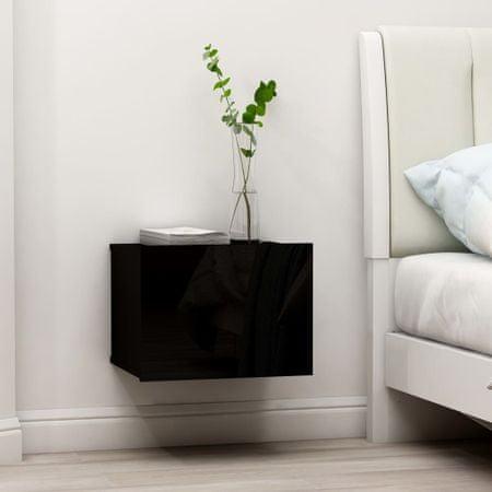 shumee 2 db fekete forgácslap éjjeliszekrény 40 x 30 x 30 cm