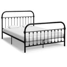 shumee Rám postele černý kov 160 x 200 cm