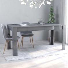 shumee Jídelní stůl šedý s vysokým leskem 160 x 80 x 76 cm dřevotříska