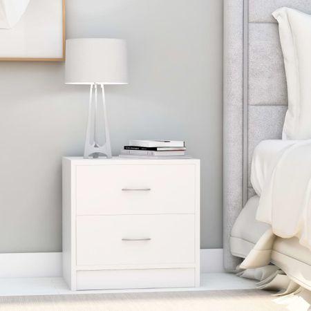 shumee 2 db fehér forgácslap éjjeliszekrény 40 x 30 x 40 cm