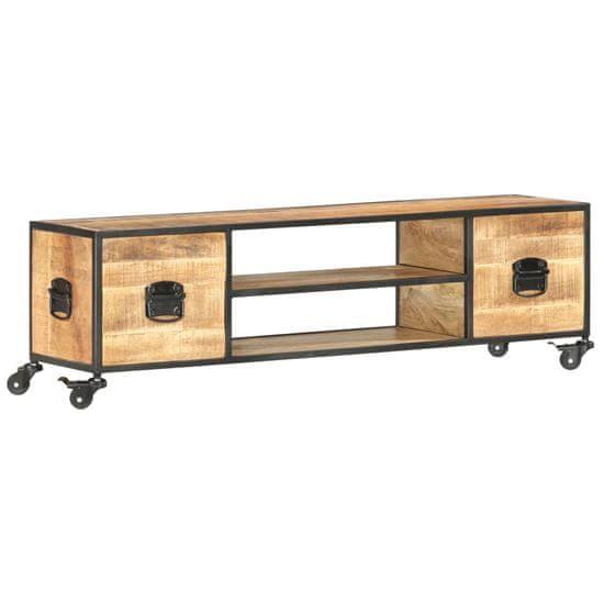 Vidaxl TV stolek 130 x 30 x 39 cm masivní mangovníkové dřevo