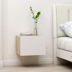 shumee fehér és sonoma tölgy forgácslap éjjeliszekrény 40 x 30 x 30 cm