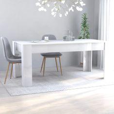 shumee Jídelní stůl bílý s vysokým leskem 180 x 90 x 76 cm dřevotříska