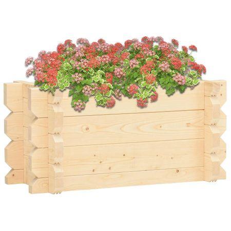 Donica ogrodowa, 100x50x47,3 cm, lite drewno świerkowe, 42 mm