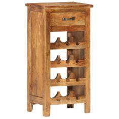 shumee Skříňka na víno 40 x 30 x 80 cm masivní akáciové dřevo