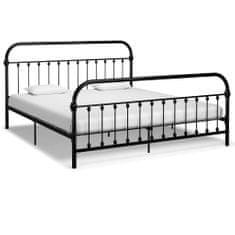 shumee Rám postele černý kov 180 x 200 cm