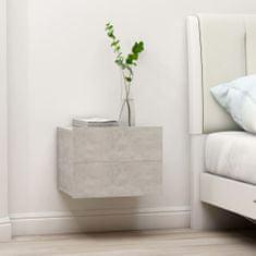shumee 2 db betonszürke forgácslap éjjeliszekrény 40 x 30 x 30 cm