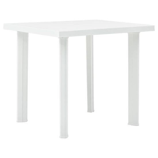 Vidaxl Zahradní stůl bílý 80 x 75 x 72 cm plast