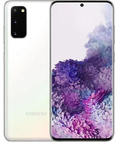 Samsung Galaxy S20, 8GB/128GB, White + bezdrátová QI nabíječka ZDARMA