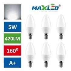 MAX-LED 10x LED žarnica – sijalka E14 5W (40W) nevtralno bela 4500K