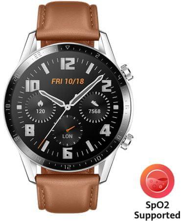 Huawei Watch GT 2, barna bőr