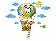 RoomDecor.eu Dětské samolepky na zeď Balón a zvířátka-04