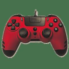 Steelplay MetalTech Red žični igralni plošček (PS4)