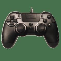 Steelplay MetalTech Black žični igralni plošček (PS4)