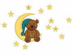 RoomDecor.eu Dětské samolepky na zeď Medvídek-08 (tyrkysová)