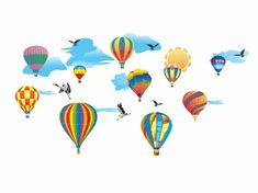 RoomDecor.eu Dětské samolepky na zeď Balóny-02