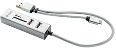 Yenkee hub USB- USB C OTG HUB + czytnik YHC 103 SR