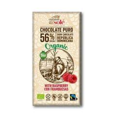 Chocolates Solé 56% bio čokoláda s malinami