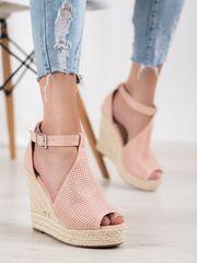 Stylomat Ažurové sandálky na klínku