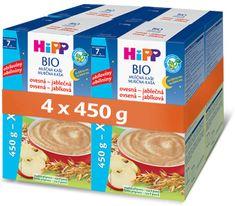 HiPP BIO Mliečna kaša na dobrú noc ovsená s jablkom 4 × 450 g