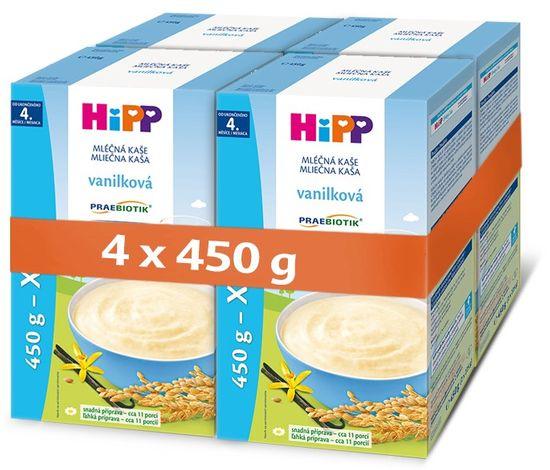 HiPP mliečna prvá kaša pre dojčatá vanilková od uk. 4. mesiaca, 4 x 450 g