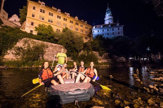 Noční rafting centrem Krumlova pro max 5 osob