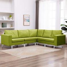 shumee 5-dielna sedacia súprava zelená látková