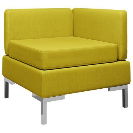 slomart Sekcijski kotni kavč z blazino blago rumen