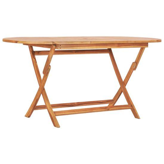 shumee Skládací zahradní stůl 160 x 80 x 75 cm masivní teakové dřevo