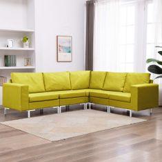shumee 5-dielna sedacia súprava žltá látková