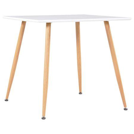 shumee tölgyszínű és fehér MDF étkezőasztal 80,5 x 80,5 x 73 cm