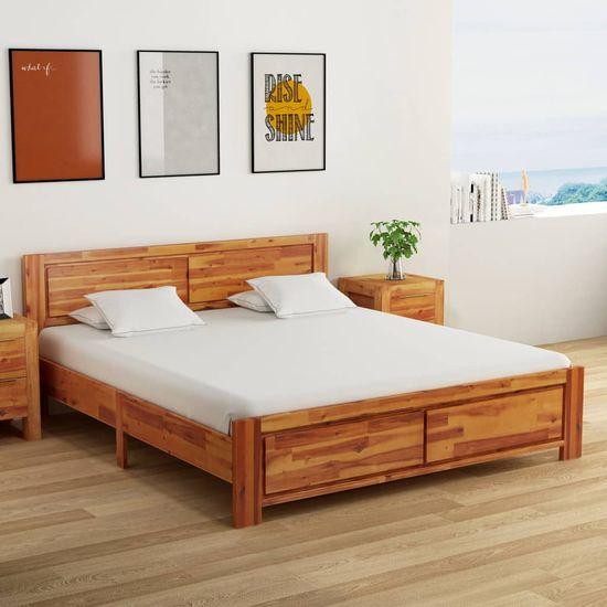Vidaxl Rám postele masivní akáciové dřevo 180 x 200 cm