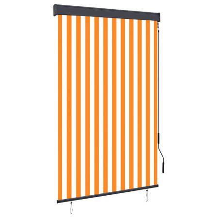 slomart Zunanje rolo senčilo 120x250 cm belo in oranžno