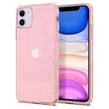 Spigen ovitek za iPhone 11, Liquid Crystal Glitter, roza