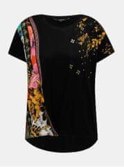 Desigual černé vzorované tričko