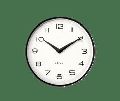 LAVVU Černé kovové minimalistické hodiny LAVVU LIVING