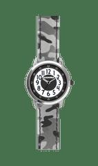 CLOCKODILE Svítící šedé chlapecké hodinky CLOCKODILE ARMY s maskáčovým vzorem