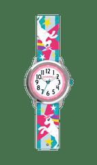 CLOCKODILE Tyrkysové třpytivé dívčí hodinky s jednorožcem CLOCKODILE UNICORNS