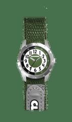 CLOCKODILE Zelené reflexní dětské hodinky na suchý zip CLOCKODILE REFLEX