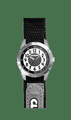 CLOCKODILE Černé reflexní dětské hodinky na suchý zip CLOCKODILE REFLEX