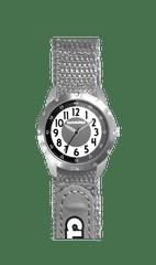 CLOCKODILE Šedé reflexní dětské hodinky na suchý zip CLOCKODILE REFLEX