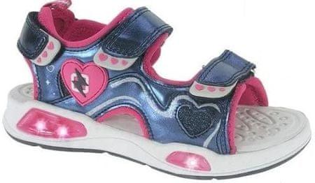 Beppi sandały dziewczęce 2171490, 25 różowe/niebieskie