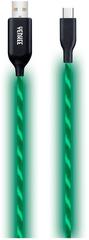 Yenkee YCU 341 GN LED USB C kábel / 1 m