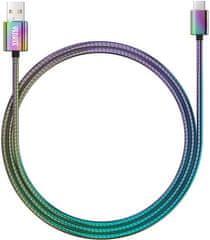 Yenkee YCU 351 Oceľový USB C kábel / 1 m