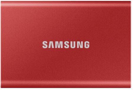 Samsung dysk zewnętrzny T7 SSD 1TB, czerwony (MU-PC1T0R/WW)