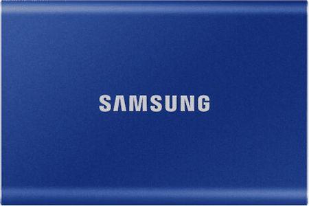 Samsung dysk zewnętrzny T7 SSD 1TB, niebieski (MU-PC1T0H/WW)