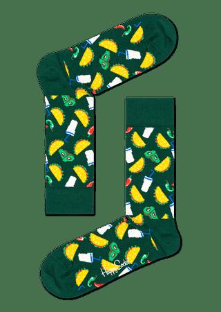 Happy Socks uniszex zokni Taco Sock TAC01-7000, 36- 40, zöld