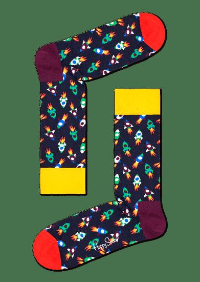 Happy Socks unisex ponožky Rocket Sock ROC01-6500 36 - 40 černá