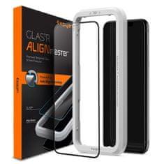 Spigen Glas.Tr Full Cover zaščitno steklo za iPhone 11 / XR, črna