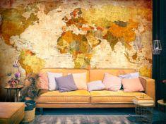 Murando DeLuxe Tapeta - Klasická mapa světa Rozměry (š x v) a Typ: 300x210 cm - vliesové